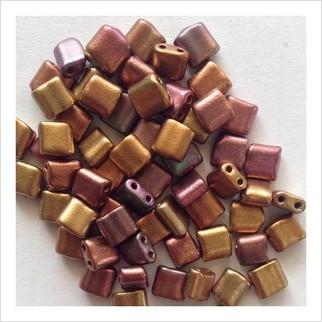 Karo beads 5х5 mm №2007 (metallic versicolour)