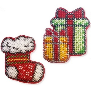 """Kit with seed beads """"Brooches"""""""