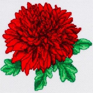 "Cross stitch embroidery kit ""Chrysanthemum"""