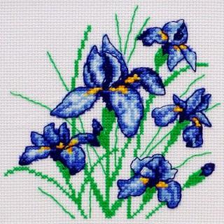 """Cross stitch embroidery kit """"Irises"""""""