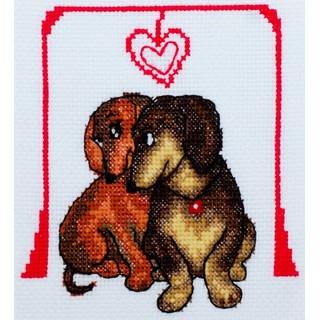 "Cross stitch embroidery kit ""Doggies"""