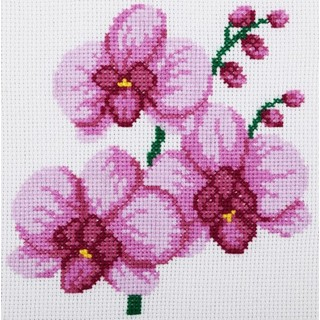 Cross stitch embroidery kit ''Orchid""