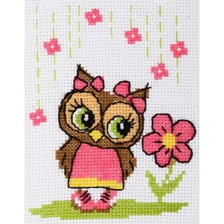 Cross stitch embroidery kit ''Owl""