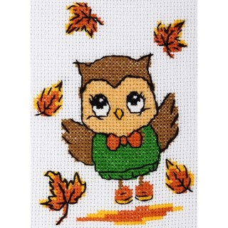 "Cross stitch embroidery kit ''Owl"""