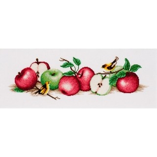 "Cross stitch embroidery kit ""Apple Boom"""