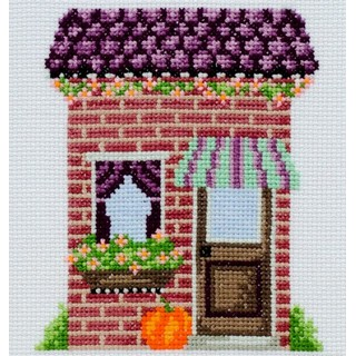 "Cross stitch embroidery kit ""Florist's Shop"""