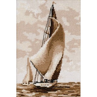 "Cross stitch embroidery kit ""Regatta"""