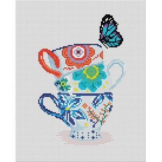 "Cross stitch embroidery kit ""Оn a Tea-fight"""