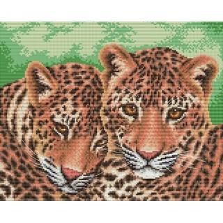 """Cross stitch embroidery kit """"Leopards"""""""