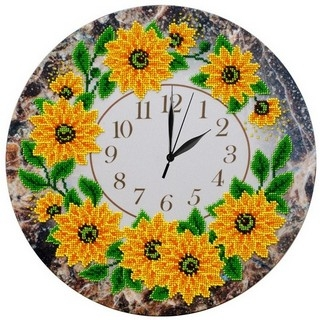 "Kit with seed beads ""Wall Clock"""