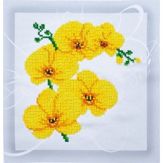 """Kit with seed beads """"Orchid"""""""