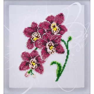 "Kit with seed beads ""Orchid"""