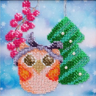 Kit with seed beads ''New Year's Owl""