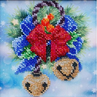 Kit with seed beads ''Festive Bells""