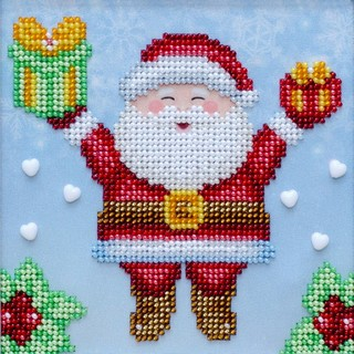 Kit with seed beads ''Happy Holidays""