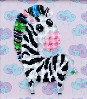 Kit with seed beads ''Zebra""