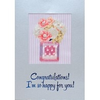 """Print on fabric for free-form beads embroidery """"Beaded Postcard"""""""