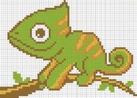 "Cross stitch embroidery kit ''Chameleon"""