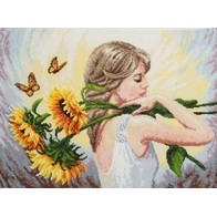 Cross stitch embroidery kit ''Summer Mood""