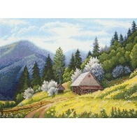 "Cross stitch embroidery kit ''Carpathian Spring"""