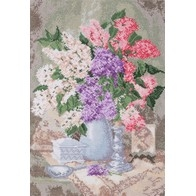 Cross stitch embroidery kit ''Still Life With Lilac""