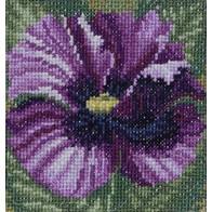 "Cross stitch embroidery kit ''Blue Poppy"""