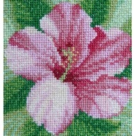 Cross stitch embroidery kit ''Hibiscus""