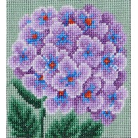 "Cross stitch embroidery kit ''Purple Hydrangea"""