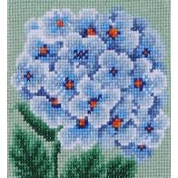 "Cross stitch embroidery kit ''Blue Hydrangea"""