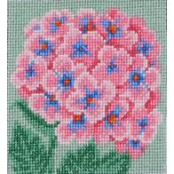 """Cross stitch embroidery kit ''Pink Hydrangea"""""""
