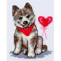 "Cross stitch embroidery kit ""Doggie"""