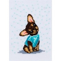 "Cross stitch embroidery kit ""Dog"""