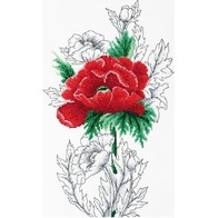 Cross stitch embroidery kit ''Red Poppy""