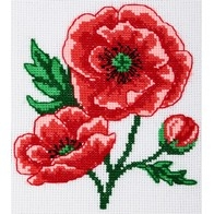 Cross stitch embroidery kit ''Poppies""