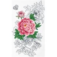 """Cross stitch embroidery kit ''Peony"""""""