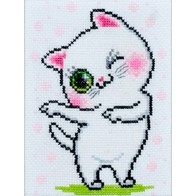 """Cross stitch embroidery kit """"Kitty"""""""