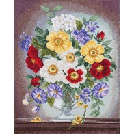 Cross stitch embroidery kit ''Floral Fantasy""