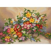 Cross stitch embroidery kit ''Spring Extravaganza""