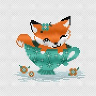 Cross stitch embroidery kit ''Fox""