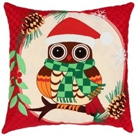 "DIY embroidery kit ''Decorative Cushion ""New Year Owl"""
