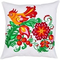 "DIY embroidery kit ''Decorative Cushion ""A Bird"""