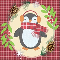 "DIY embroidery kit ''Decorative Cushion ""A Penguin"""