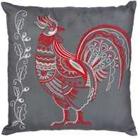 "DIY fancy stitch embroidery kit ''Decorative Cushion ""Rooster"""