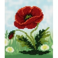 "Kit with seed beads ""Poppy"""