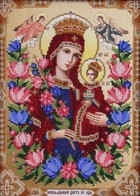 """Kit with seed beads """"The Icon of the Mother of God Unfading Flower"""""""