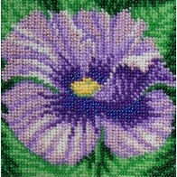 "Kit with seed beads ""Blue Poppy"""