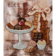 "Kit with seed beads ""Chocolate"""