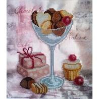 "Kit with seed beads ""Chocolate"""