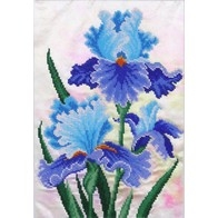 "Kit with seed beads ""Blue Irises"""