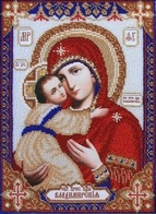 """Kit with seed beads """"The Vladimir Icon of the Mother of God"""""""